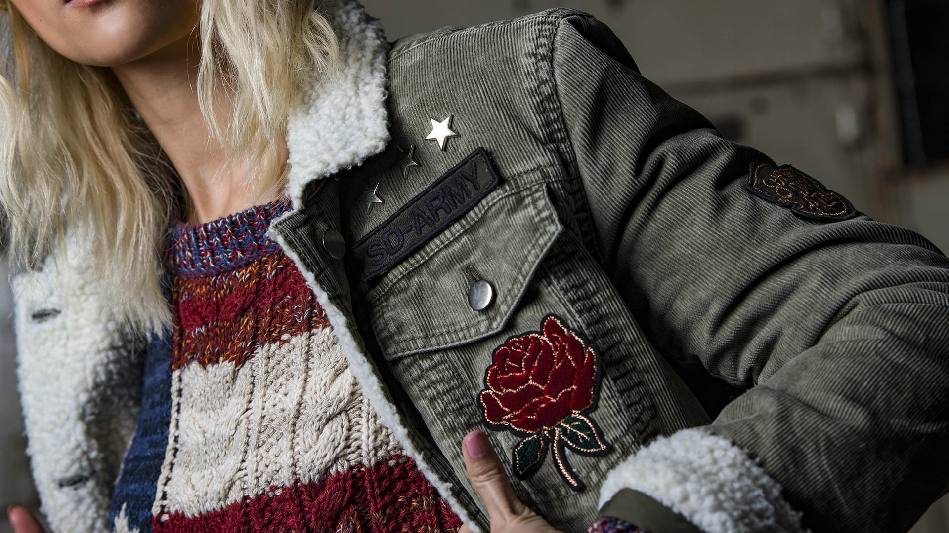 Close up womans jacket
